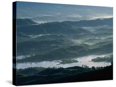 Low Lying Hills and Waterways from Adam's Peak, Sri Lanka-Anders Blomqvist-Stretched Canvas Print