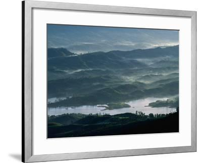 Low Lying Hills and Waterways from Adam's Peak, Sri Lanka-Anders Blomqvist-Framed Photographic Print