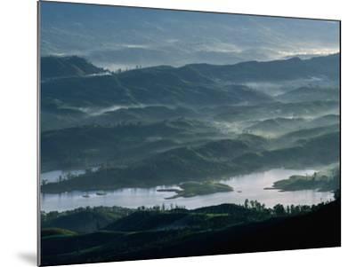 Low Lying Hills and Waterways from Adam's Peak, Sri Lanka-Anders Blomqvist-Mounted Photographic Print