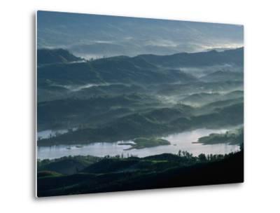 Low Lying Hills and Waterways from Adam's Peak, Sri Lanka-Anders Blomqvist-Metal Print