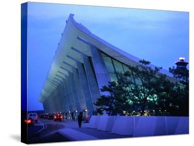 Dulles International Airport at Night, Washington Dc, USA-Rick Gerharter-Stretched Canvas Print