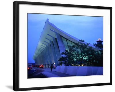 Dulles International Airport at Night, Washington Dc, USA-Rick Gerharter-Framed Photographic Print