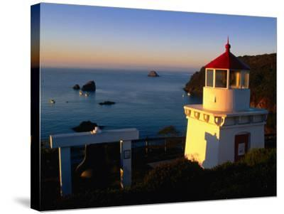 Trinidad Head Lighthouse, Trinidad, California, USA-Stephen Saks-Stretched Canvas Print