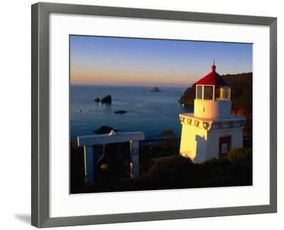 Trinidad Head Lighthouse, Trinidad, California, USA-Stephen Saks-Framed Photographic Print