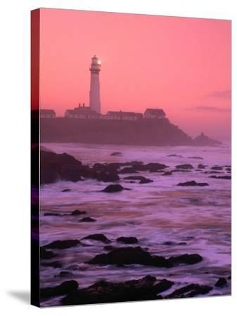 Sunrise Over Pigeon Point Lighthouse of San Mateo County, San Francisco, California, USA-Stephen Saks-Stretched Canvas Print