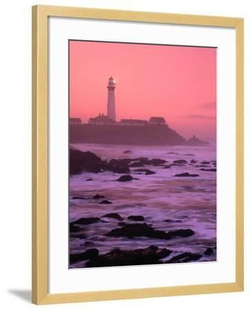 Sunrise Over Pigeon Point Lighthouse of San Mateo County, San Francisco, California, USA-Stephen Saks-Framed Photographic Print