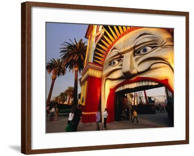 Entrance of Luna Park, Melbourne, Australia-James Braund-Framed Photographic Print
