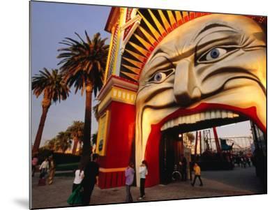Entrance of Luna Park, Melbourne, Australia-James Braund-Mounted Photographic Print