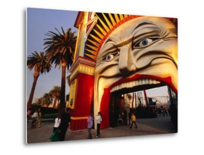 Entrance of Luna Park, Melbourne, Australia-James Braund-Metal Print