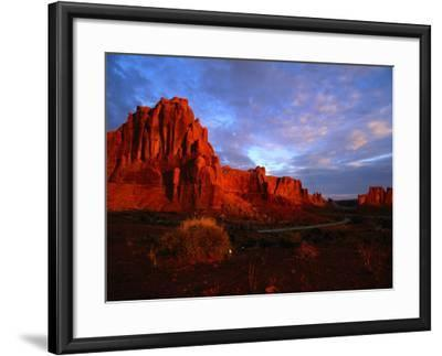 Courthouse Towers at Dusk, Arches National Park, USA-Carol Polich-Framed Photographic Print