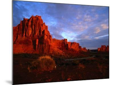 Courthouse Towers at Dusk, Arches National Park, USA-Carol Polich-Mounted Photographic Print