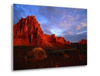 Courthouse Towers at Dusk, Arches National Park, USA-Carol Polich-Metal Print