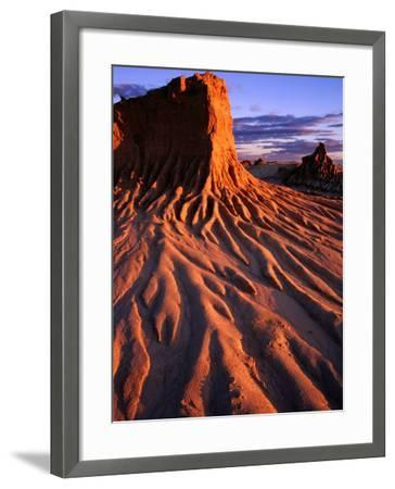 Detail of Walls of China, Mungo National Park, Australia-Paul Sinclair-Framed Photographic Print