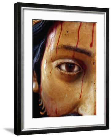 Detail of Statue of Christ in the Cathedral, San Cristobel De Las Casas, Mexico-Jeffrey Becom-Framed Photographic Print