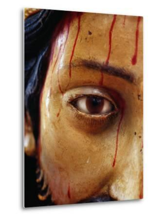 Detail of Statue of Christ in the Cathedral, San Cristobel De Las Casas, Mexico-Jeffrey Becom-Metal Print