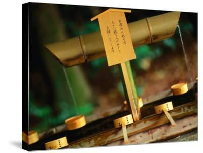 Facilities for Hand Washing at Shrine Tokyo, Kanto, Japan-John Hay-Stretched Canvas Print