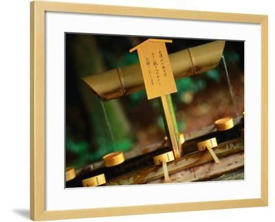 Facilities for Hand Washing at Shrine Tokyo, Kanto, Japan-John Hay-Framed Photographic Print