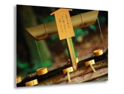 Facilities for Hand Washing at Shrine Tokyo, Kanto, Japan-John Hay-Metal Print