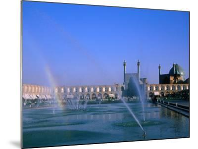 Fountain with Rainbow Outside Masjed-E Emam, Esfahan, Iran-Martin Moos-Mounted Photographic Print
