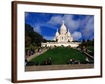 The Sacre Coeur Basilica is Located at the Top of Montmatre (Marty'R Hill) in Paris, France-Doug McKinlay-Framed Photographic Print