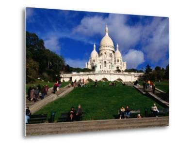 The Sacre Coeur Basilica is Located at the Top of Montmatre (Marty'R Hill) in Paris, France-Doug McKinlay-Metal Print