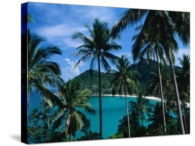 Palm Ringed Cove of Bottle Beach, Thailand-Kraig Lieb-Stretched Canvas Print