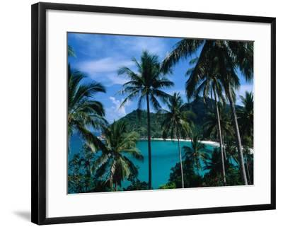 Palm Ringed Cove of Bottle Beach, Thailand-Kraig Lieb-Framed Photographic Print