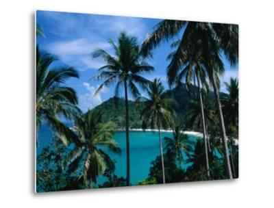 Palm Ringed Cove of Bottle Beach, Thailand-Kraig Lieb-Metal Print