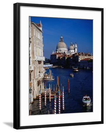 Grand Canal and Domes of Chiesa Di Santa Maria Della Salute in Distance, Venice, Italy-Gareth McCormack-Framed Photographic Print