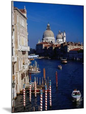 Grand Canal and Domes of Chiesa Di Santa Maria Della Salute in Distance, Venice, Italy-Gareth McCormack-Mounted Photographic Print