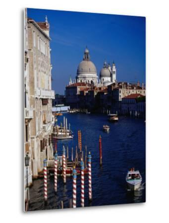 Grand Canal and Domes of Chiesa Di Santa Maria Della Salute in Distance, Venice, Italy-Gareth McCormack-Metal Print