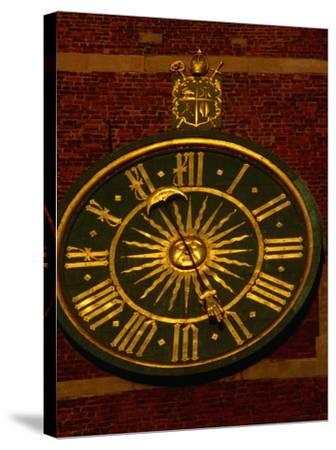 Historic Clock on Tower of Wawel Cathedral, Krakow, Malopolskie, Poland-Krzysztof Dydynski-Stretched Canvas Print