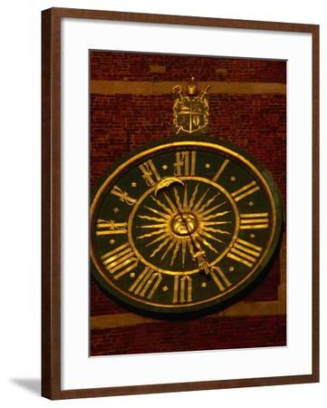Historic Clock on Tower of Wawel Cathedral, Krakow, Malopolskie, Poland-Krzysztof Dydynski-Framed Photographic Print