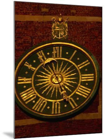 Historic Clock on Tower of Wawel Cathedral, Krakow, Malopolskie, Poland-Krzysztof Dydynski-Mounted Photographic Print