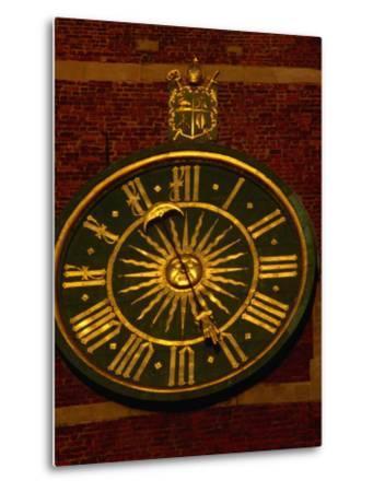 Historic Clock on Tower of Wawel Cathedral, Krakow, Malopolskie, Poland-Krzysztof Dydynski-Metal Print