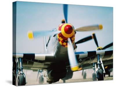 "WWII Aeroplane, ""War Birds"" Air Show, Oshkosh, U.S.A.-Lou Jones-Stretched Canvas Print"
