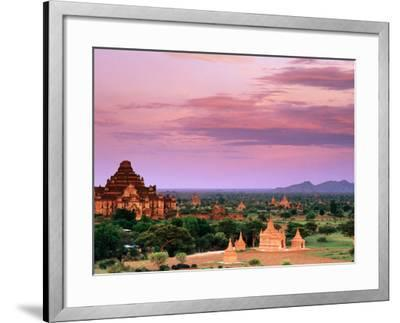 Pink Sky From Swesandaw Paya, Bagan, Myanmar (Burma)-Anthony Plummer-Framed Photographic Print
