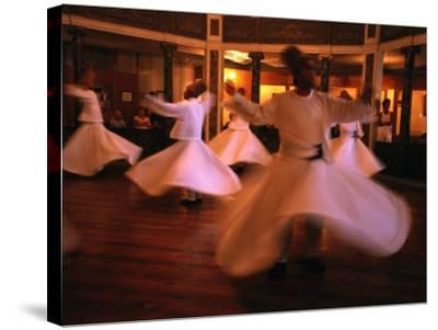 Whirling Dervishes, Istanbul, Turkey-Phil Weymouth-Stretched Canvas Print