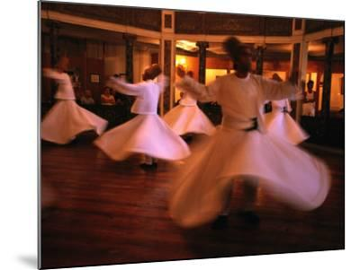 Whirling Dervishes, Istanbul, Turkey-Phil Weymouth-Mounted Photographic Print