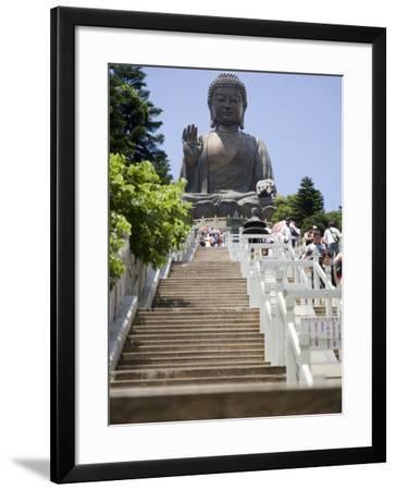 Steps Leading up to Tian Tan Buddha Statue, Hong Kong, China-Greg Elms-Framed Photographic Print