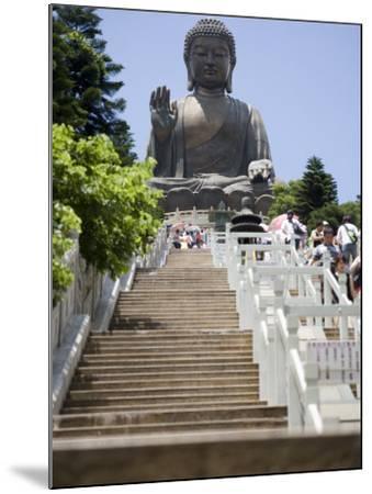 Steps Leading up to Tian Tan Buddha Statue, Hong Kong, China-Greg Elms-Mounted Photographic Print