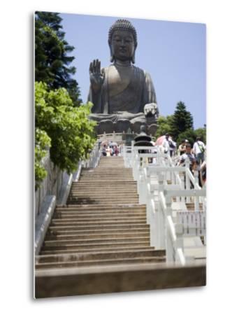 Steps Leading up to Tian Tan Buddha Statue, Hong Kong, China-Greg Elms-Metal Print