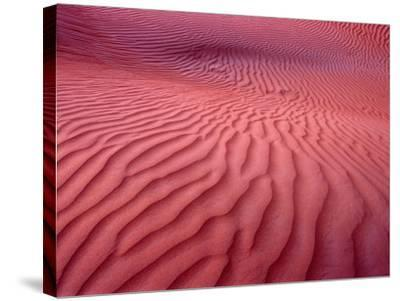 Dubai Desert Dunes at Dusk, Al Maha Desert Resort, Dubai, United Arab Emirates-Holger Leue-Stretched Canvas Print