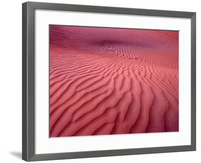 Dubai Desert Dunes at Dusk, Al Maha Desert Resort, Dubai, United Arab Emirates-Holger Leue-Framed Photographic Print