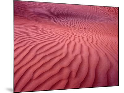 Dubai Desert Dunes at Dusk, Al Maha Desert Resort, Dubai, United Arab Emirates-Holger Leue-Mounted Photographic Print