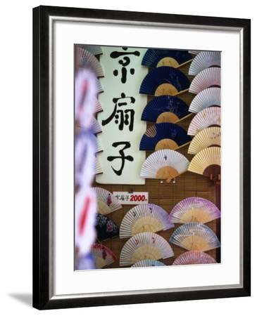 Fans for Sale, Kyoto, Kinki, Japan-Christopher Groenhout-Framed Photographic Print