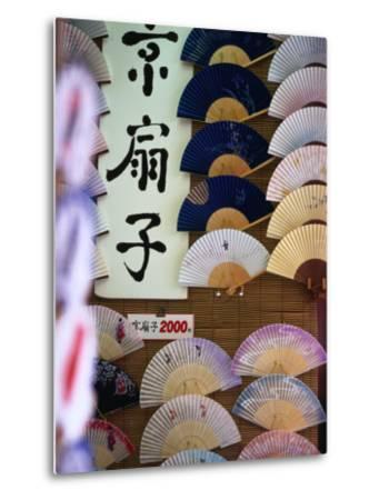 Fans for Sale, Kyoto, Kinki, Japan-Christopher Groenhout-Metal Print