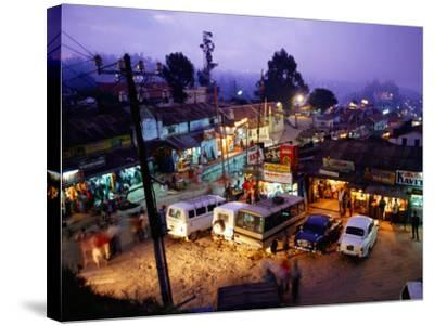 Shops and Stalls at Dusk, Kodaikanal, Tamil Nadu, India-Greg Elms-Stretched Canvas Print