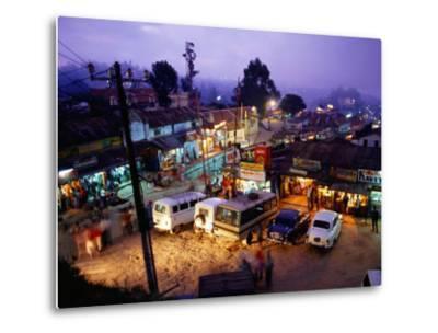 Shops and Stalls at Dusk, Kodaikanal, Tamil Nadu, India-Greg Elms-Metal Print