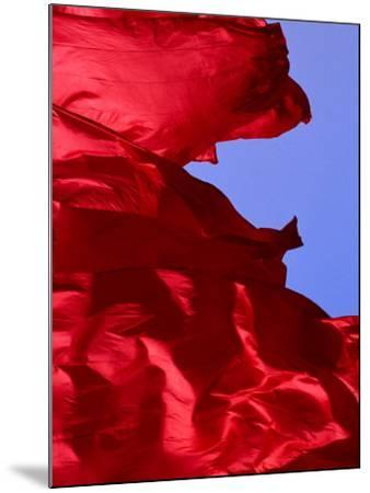 Red Flags Over Tiananmen Square Bejing, China-Phil Weymouth-Mounted Photographic Print